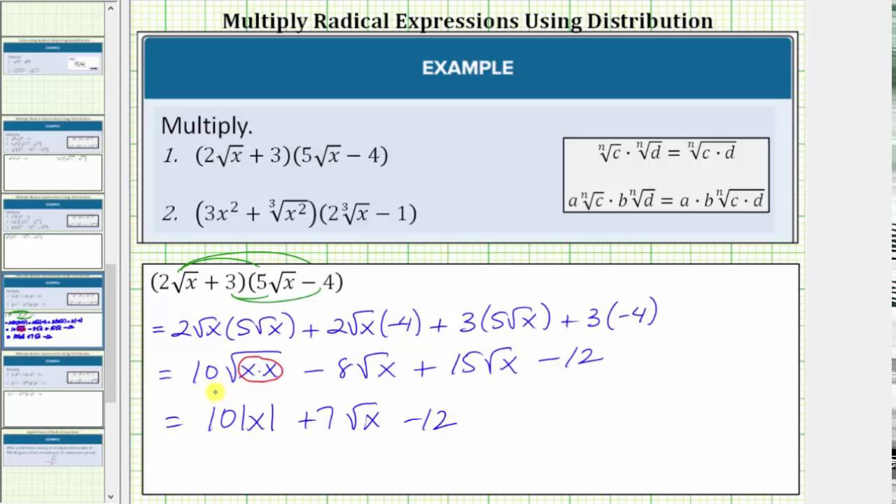 Multiplying Binomials with Radicals Worksheet Multiplying Binomial Radical Expressions with Variables
