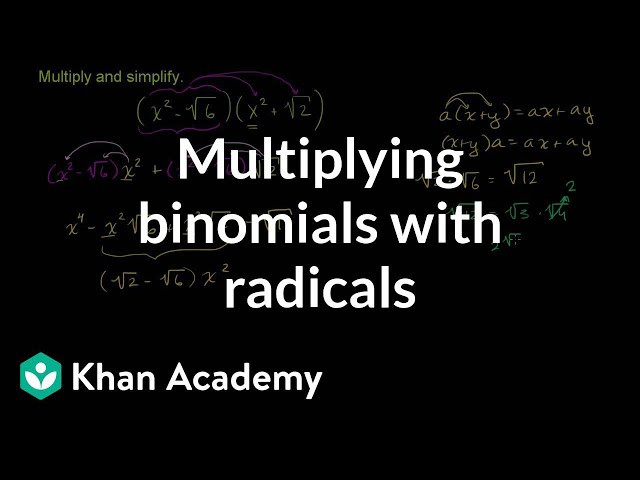 Multiplying Binomials with Radicals Worksheet Multiplying Binomials with Radicals Algebra Basics