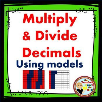 Multiplying Decimals area Model Worksheet Decimals Multiply and Divide Decimals No Prep Printable W