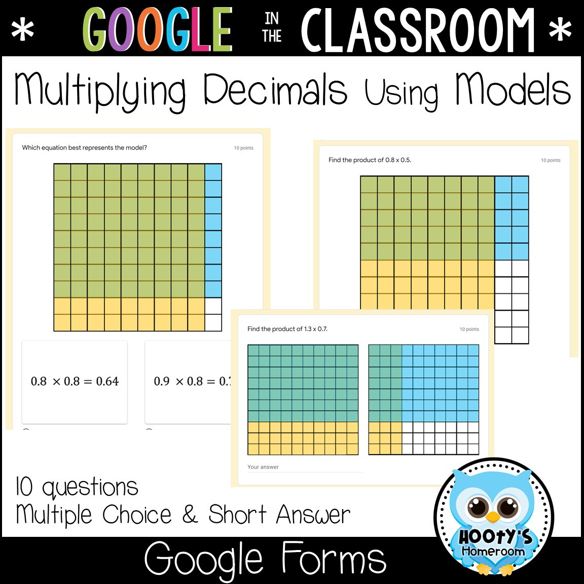 Multiplying Decimals area Model Worksheet Multiplying Decimals Using Google forms