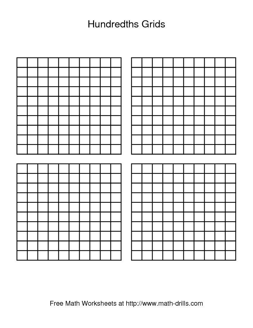 Multiplying Decimals with Grids Worksheets Hundredths Grid Decimals Worksheet
