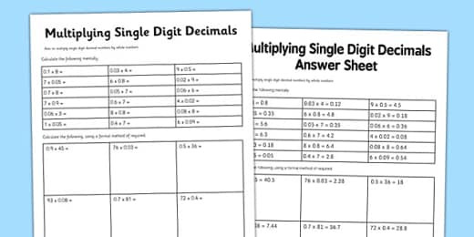 t2 m 5820 y6 multiplying decimals by whole numbers display poster