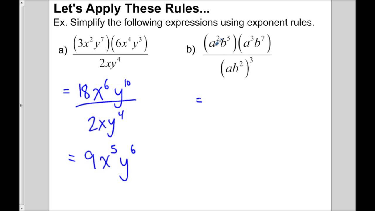 Multiplying Dividing Monomials Worksheet Multiplying and Dividing Monomials
