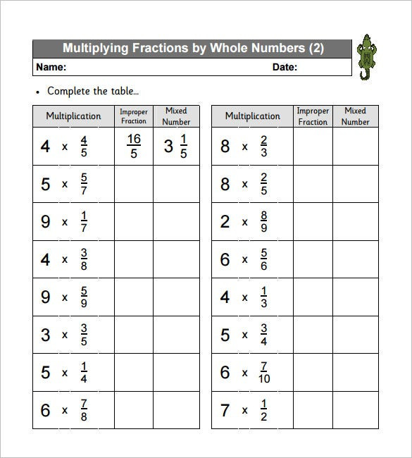 Multiplying Fractions by Fractions Worksheets 10 Multiplying Fractions Worksheet Templates Pdf