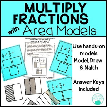Multiplying Fractions Using Models Worksheets Multiply Fractions with area Models