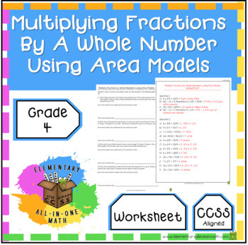Multiplying Fractions Using Models Worksheets Multiplying Fractions by A whole Number Using area Models Worksheet 4 Nf 4