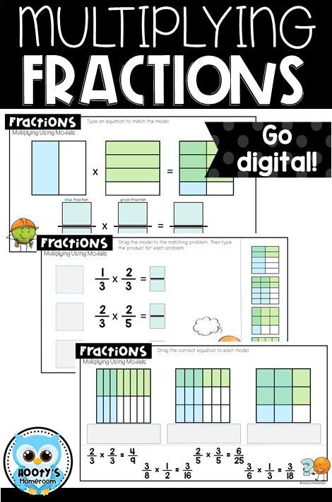 Multiplying Fractions Using Models Worksheets Multiplying Fractions Using Models Digital Activities