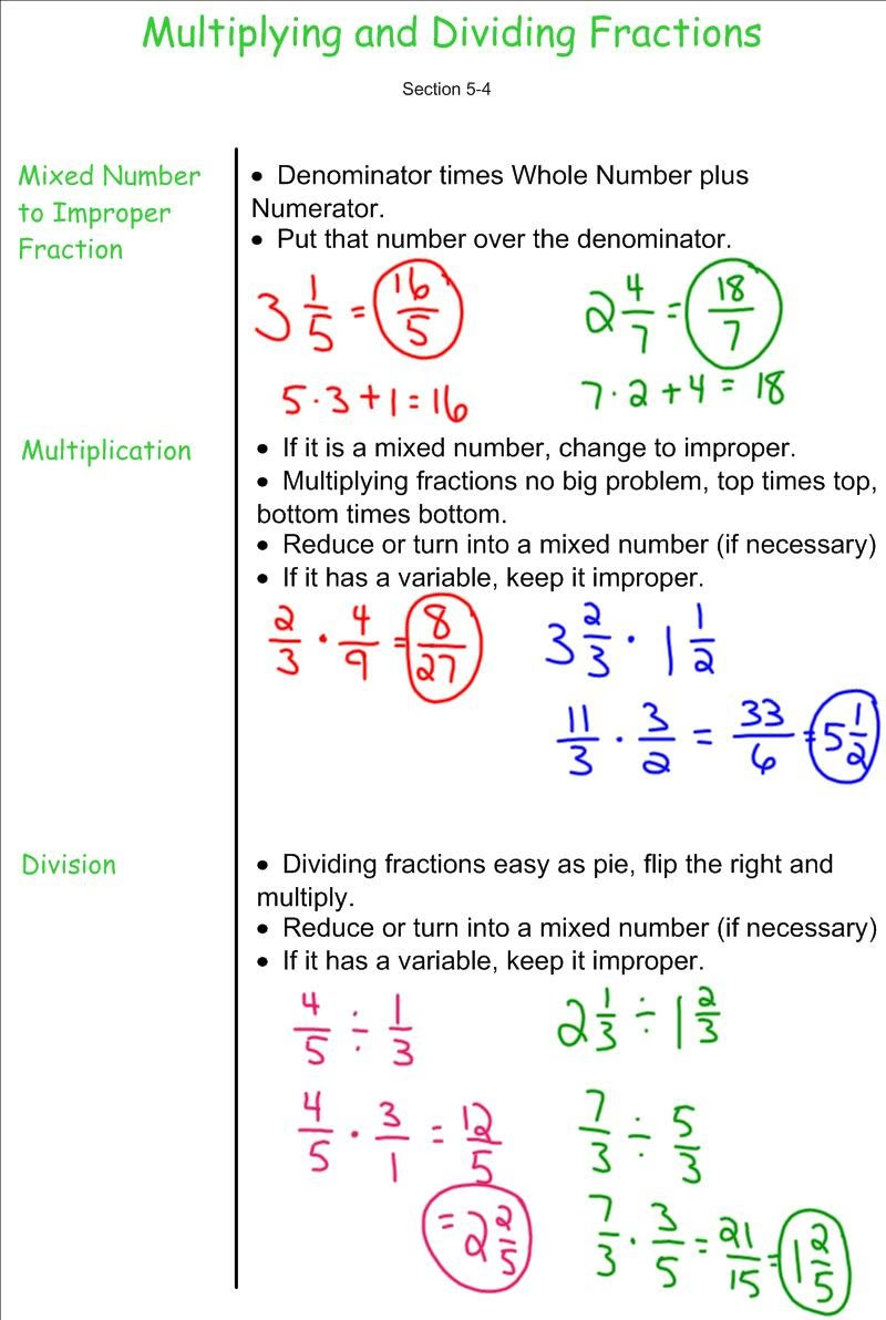 05 4 Multipling and Dividing Fractions 1