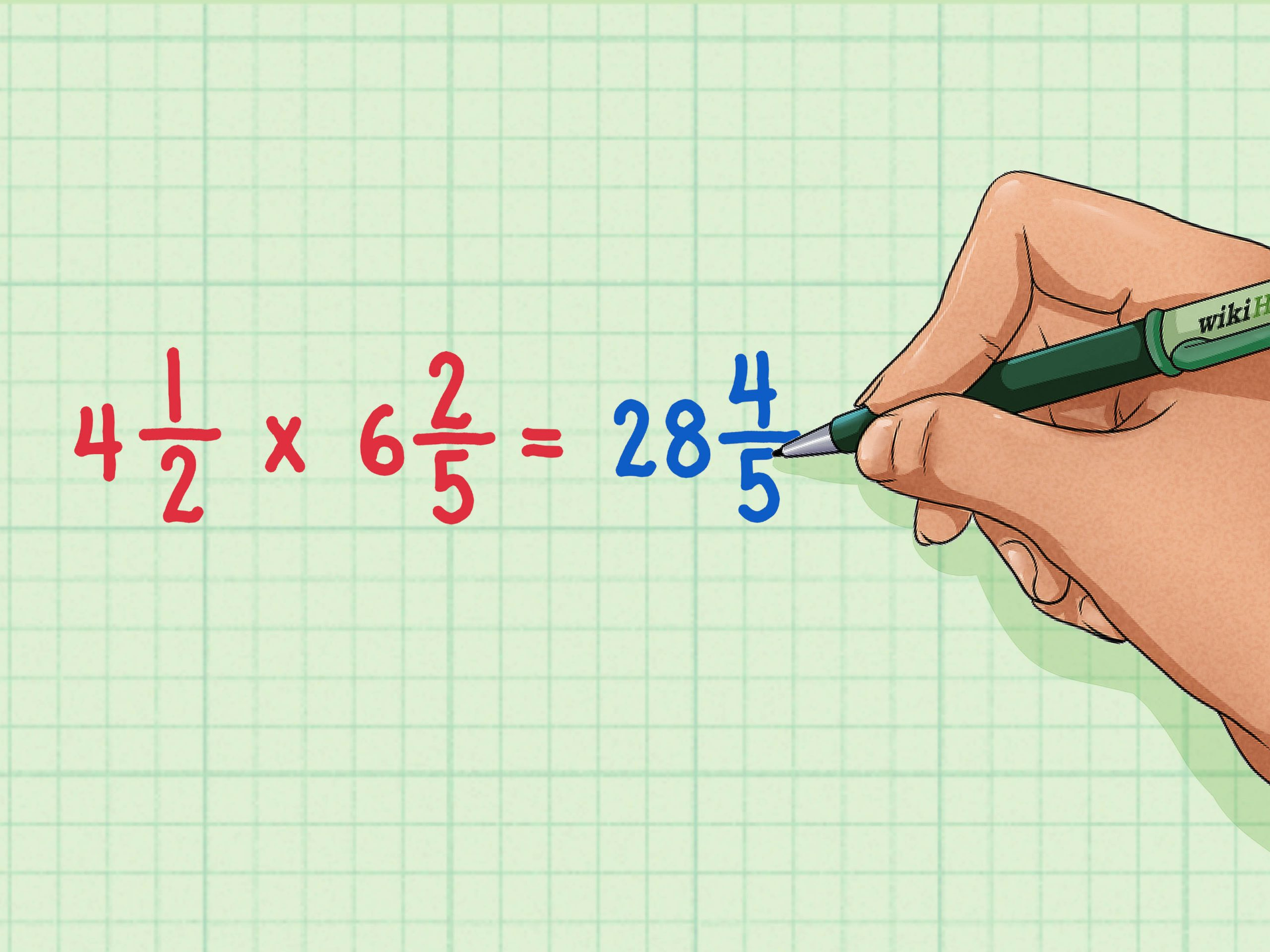 Multiplying Improper Fractions Worksheet How to Multiply Mixed Numbers 7 Steps with Wikihow