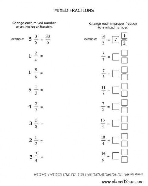 Multiplying Improper Fractions Worksheet Multiplying Improper Fractions Worksheets Grade 4 In 2020