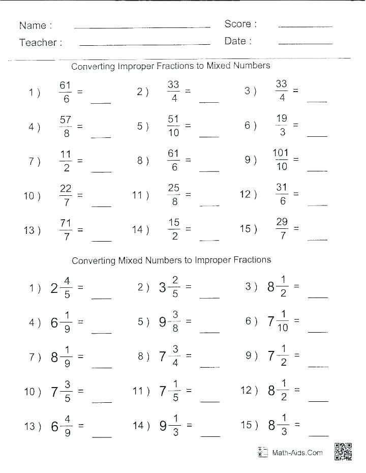 Multiplying Improper Fractions Worksheet Pin On Printable Worksheet