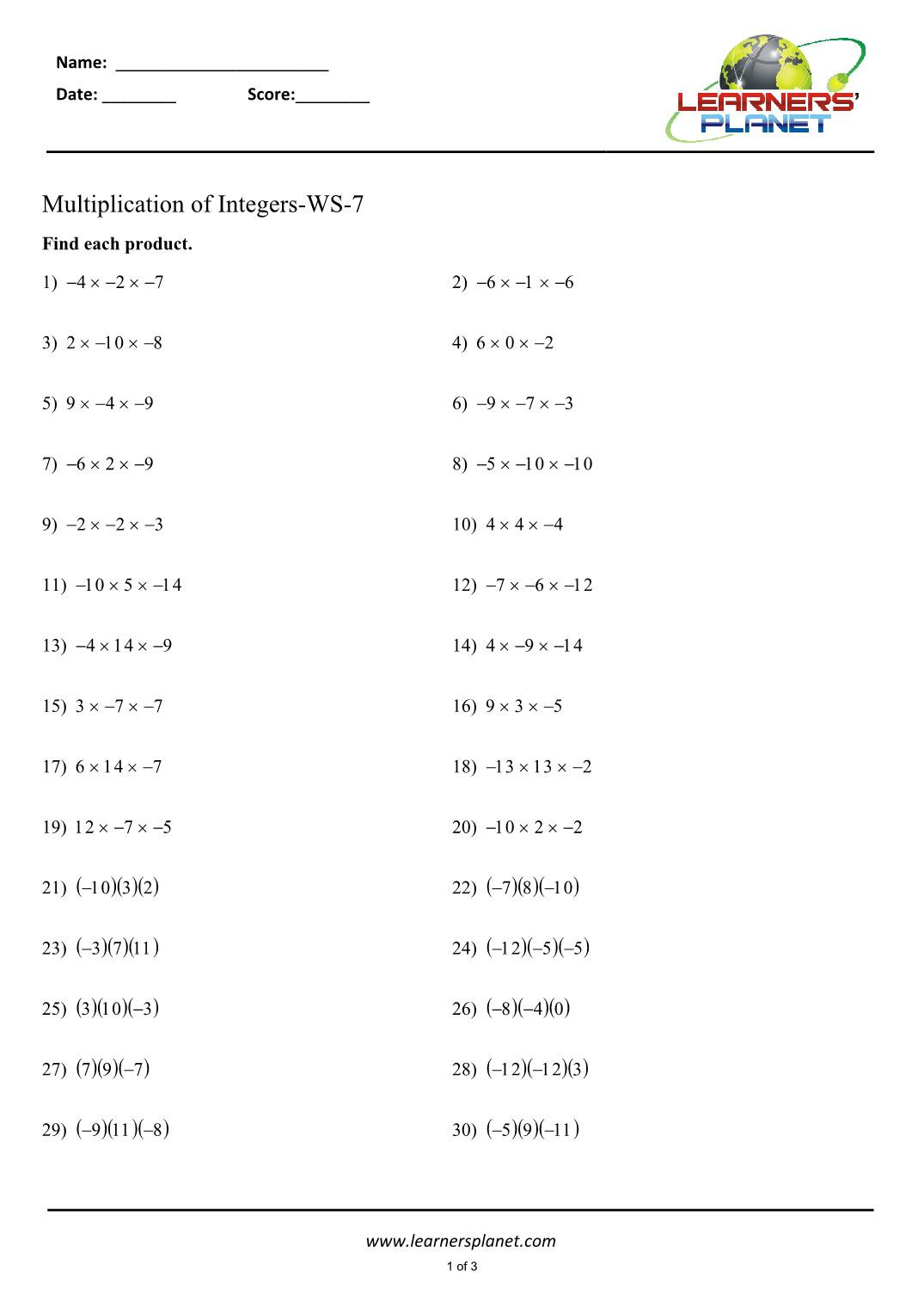 Multiplying Integers Worksheet 7th Grade Basic Mathmatics Prince and Princess Coloring Pages 7th