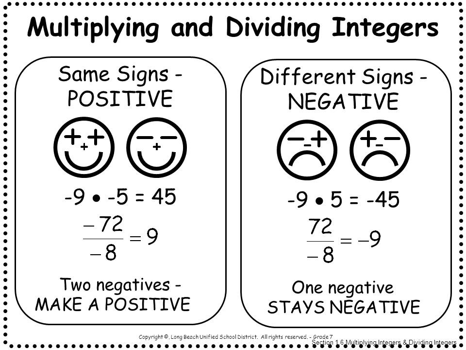 Multiplying Integers Worksheets 7th Grade Copy Multiplying and Dividing Integers Lessons Tes Teach