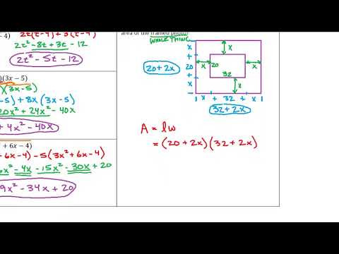 Multiplying Polynomials Word Problems Expii