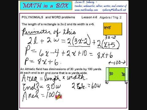 Multiplying Polynomials Word Problems Worksheet Polynomial Equation Word Problems solutions Examples
