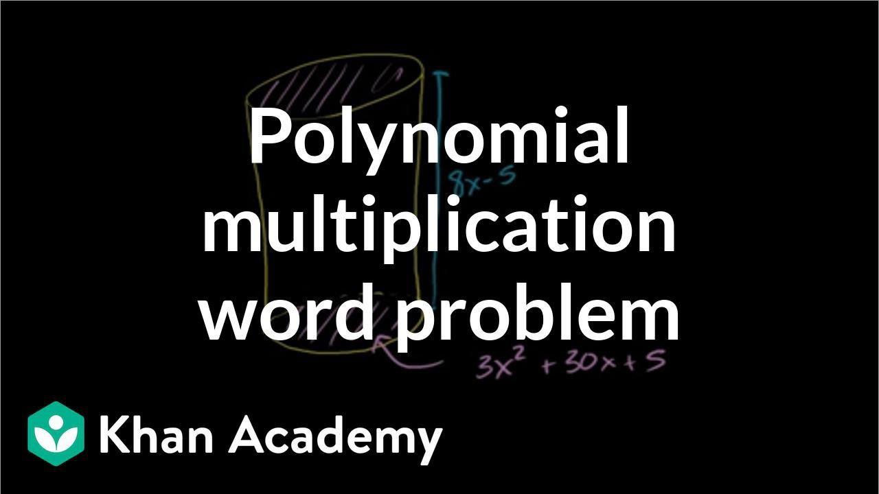 Multiplying Polynomials Word Problems Worksheet Polynomial Multiplication Word Problem Video
