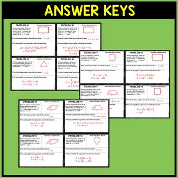 Multiplying Polynomials Word Problems Worksheet Polynomials area & Perimeter Word Problems