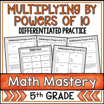 Multiplying Powers Of 10 Worksheet Multiplying by Powers Of 10 Worksheets