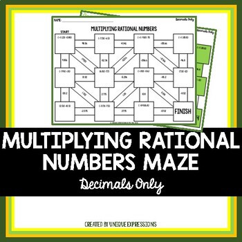 Multiplying Rational Numbers Worksheet Answers Multiplying Rational Numbers Maze
