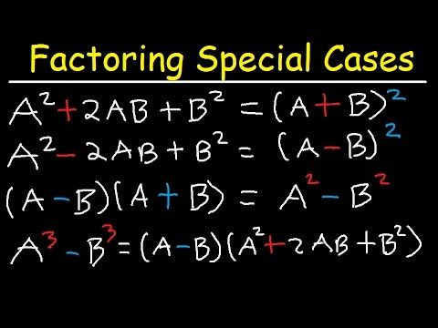 Multiplying Special Case Polynomials Worksheet Factoring Special Cases and forms Of Binomials & Trinomials