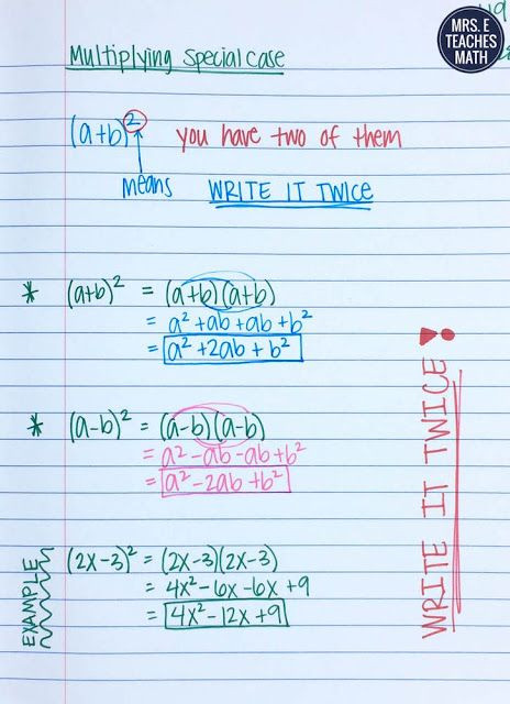 Multiplying Special Case Polynomials Worksheet Intro to Polynomials Inb Pages In 2020