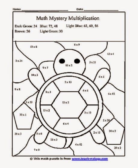 Mystery Picture Multiplication Worksheets Coloring Pages Multiplication Coloring Pages Printable
