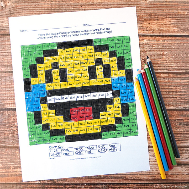 Mystery Picture Multiplication Worksheets Free Printable Emoji Mystery Multiplication Worksheets