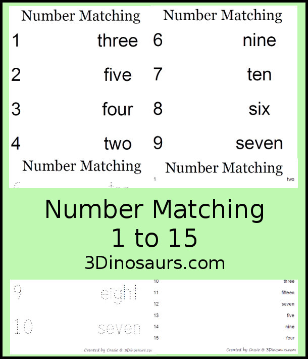 free 1 to 15 number activities