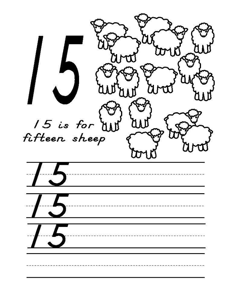 Number 15 Worksheets for Preschool Number 15 Worksheet Preschool Free Number 15 Worksheets In