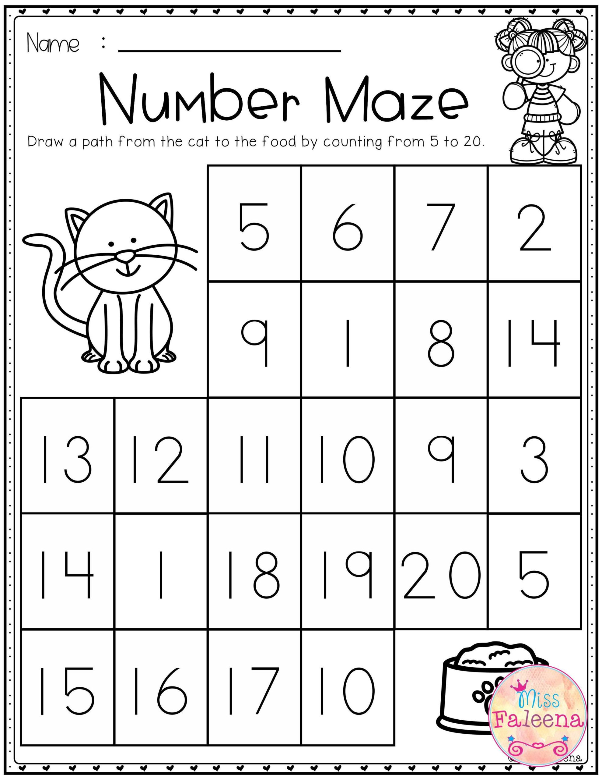 Number 17 Worksheets for Preschoolers Math Worksheet Math Worksheet Free 1st Grade Worksheets