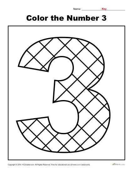 color the number 3