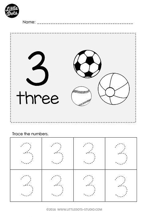 Number 3 Worksheets for toddlers Free Pre K Number 3 Worksheet Practice to Trace Number 3