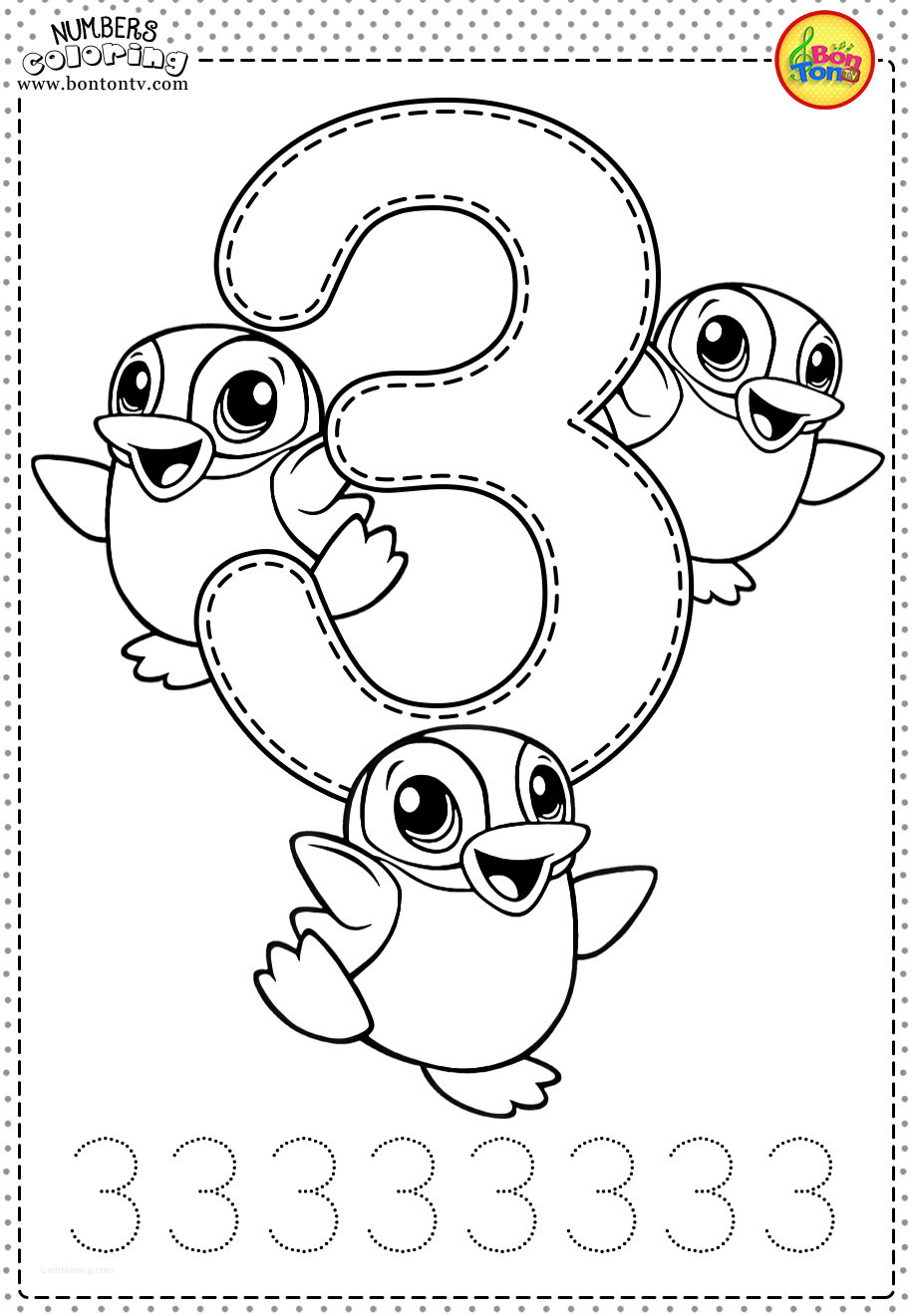 Number 3 Worksheets Preschool Coloring Pages Printable Coloring Pages for toddlers Best