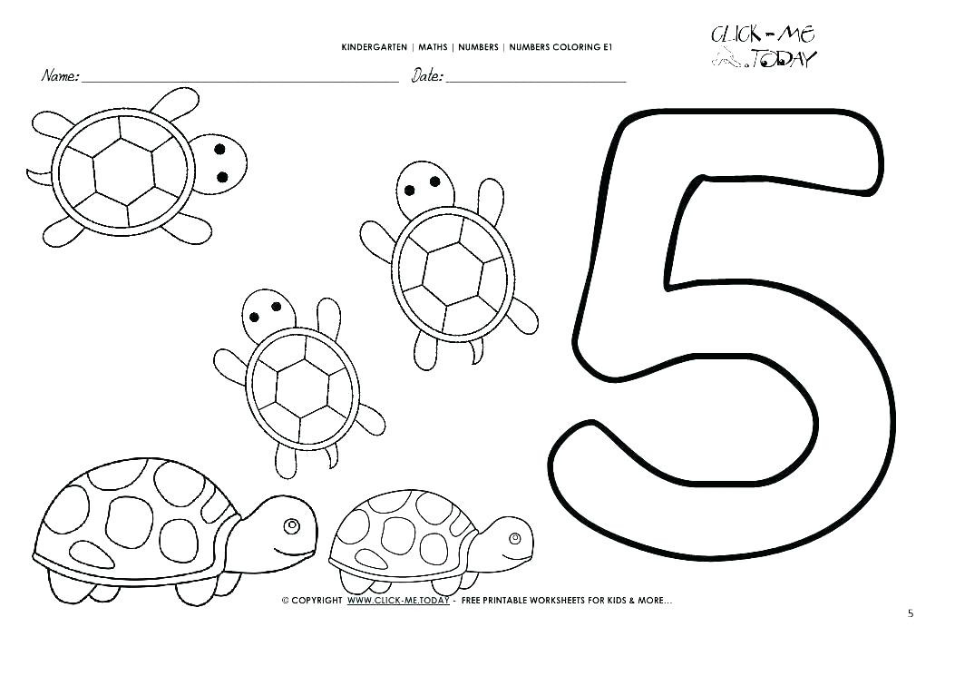 Number 5 Worksheets for Kindergarten Worksheet Worksheet Colors Worksheets for Preschoolers