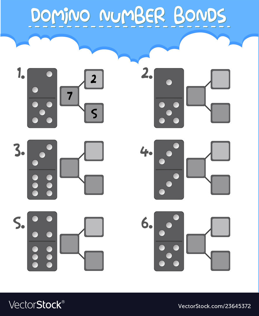Number Bond Worksheets Free Domino Number Bonds Worksheet