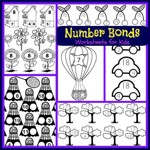 Number Bonds Worksheets