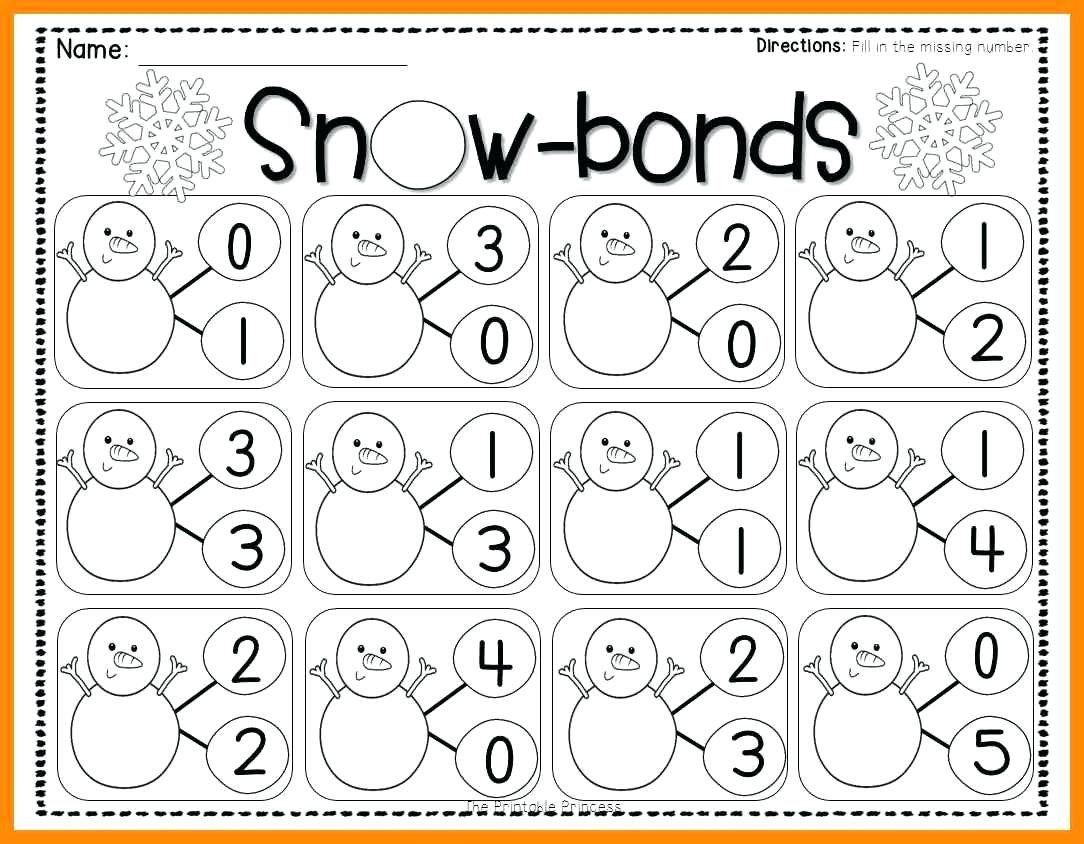 number bonds worksheets to you