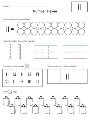 Number Identification Worksheets 1 20 Numbers 1 20 Count and Write Activity Set