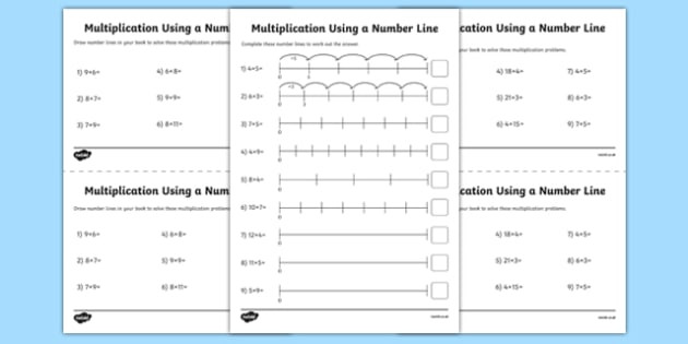 Number Line Multiplication Worksheet Number Line Multiplication Worksheet Primary Resources