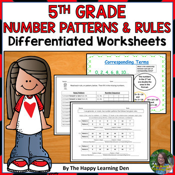 Number Patterns Worksheet 5th Grade 5th Grade Number Patterns and Rules