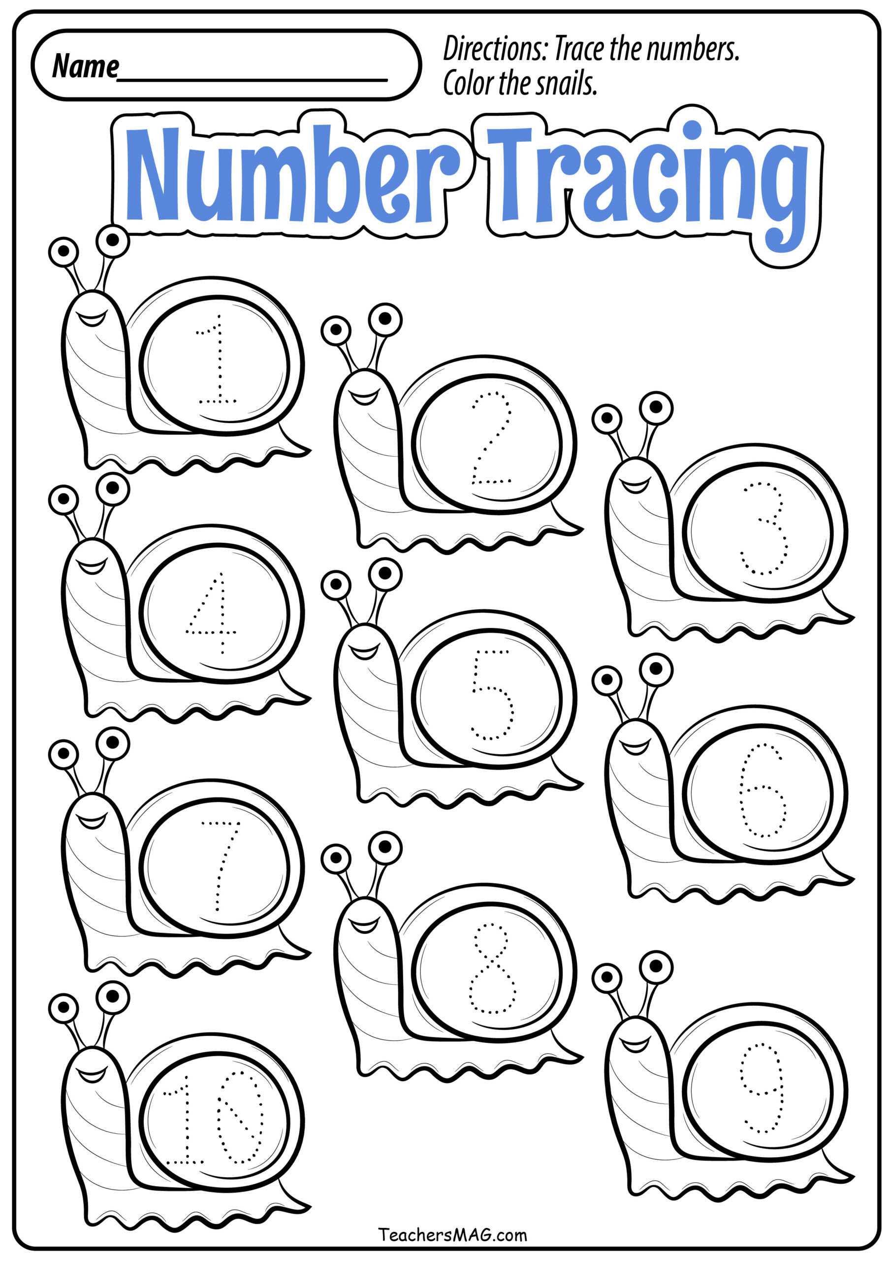 Number Recognition Worksheets for Preschool Free Printable Preschool Number Recognition Worksheets Fall