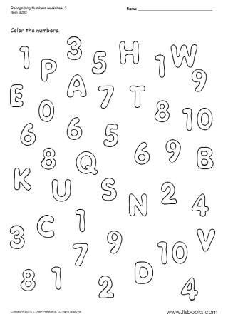 Numbers 1 10 Worksheet Recognizing Numbers 1 10