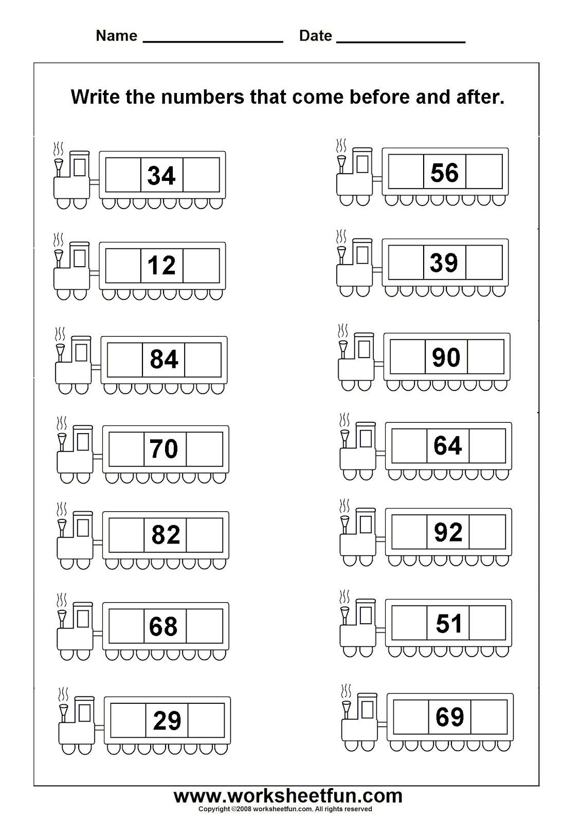 Numbers before and after Worksheet before and after 1 1 130—1 600 Pixels