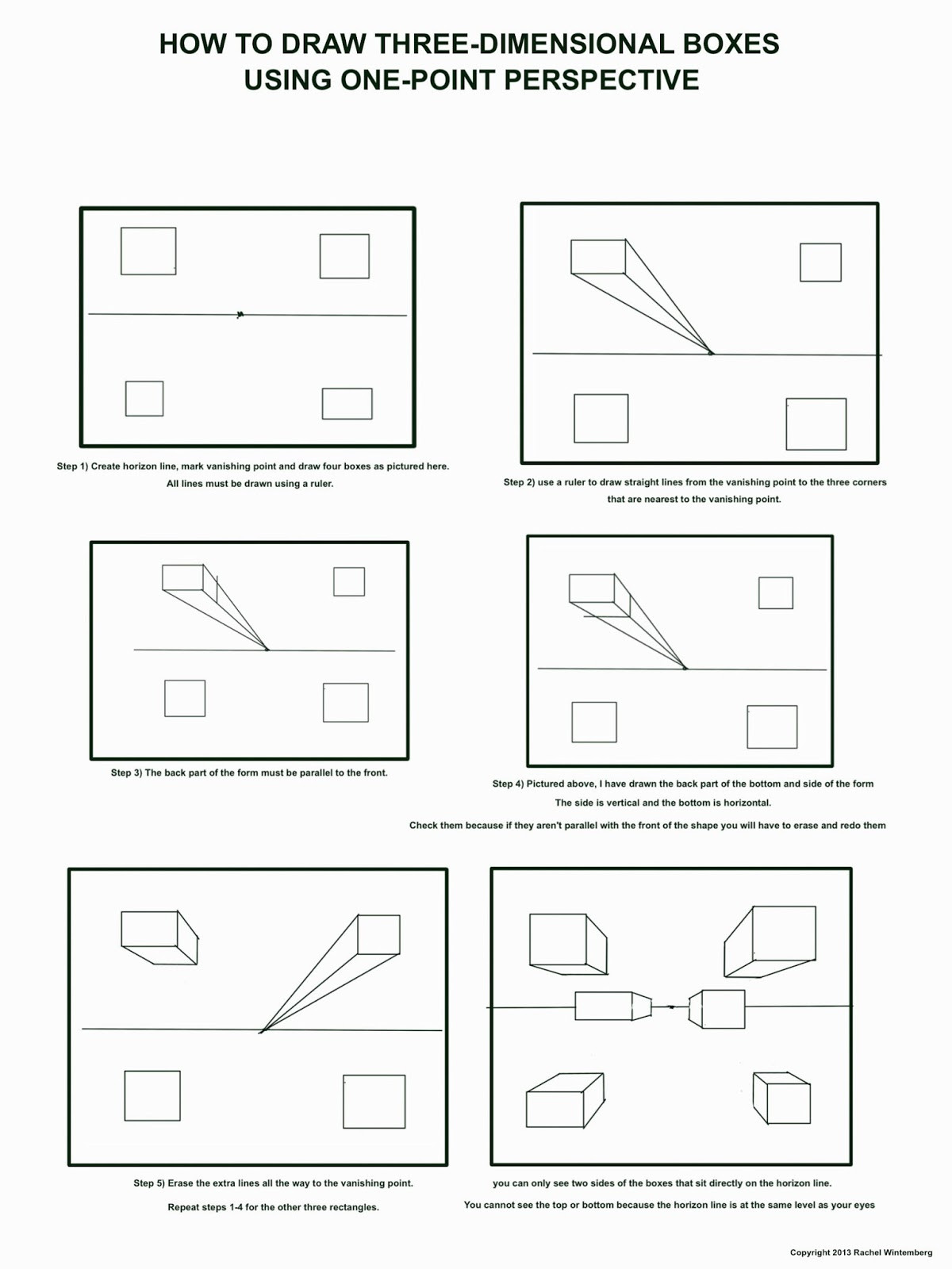 grade 6 2 one point perspective name