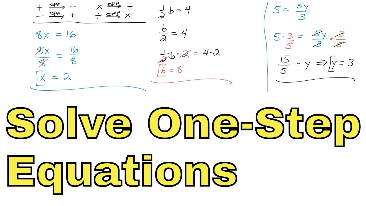 One Step Equations Multiplication Worksheet 06 solve E Step Equations with Multiplication and Division Part 1