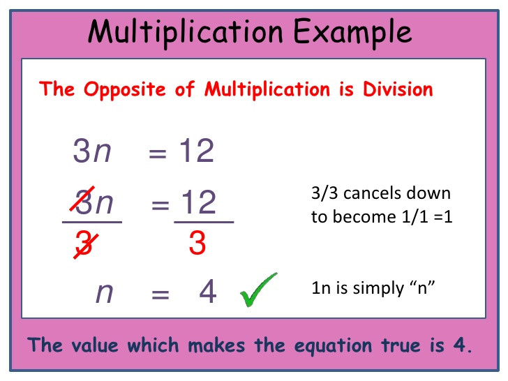 One Step Equations Multiplication Worksheet solving E Step Equations
