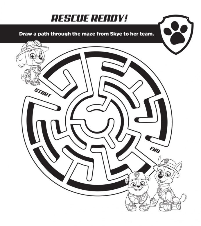 Paw Patrol Printable Worksheets Paw Patrol Puppy Free Activities Studio Fun for Back to