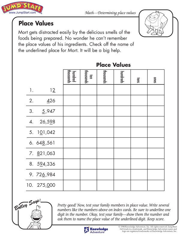 Place Value Worksheets Printable Pin Math Worksheets Fifth Grade Place Value Rd Rewriting