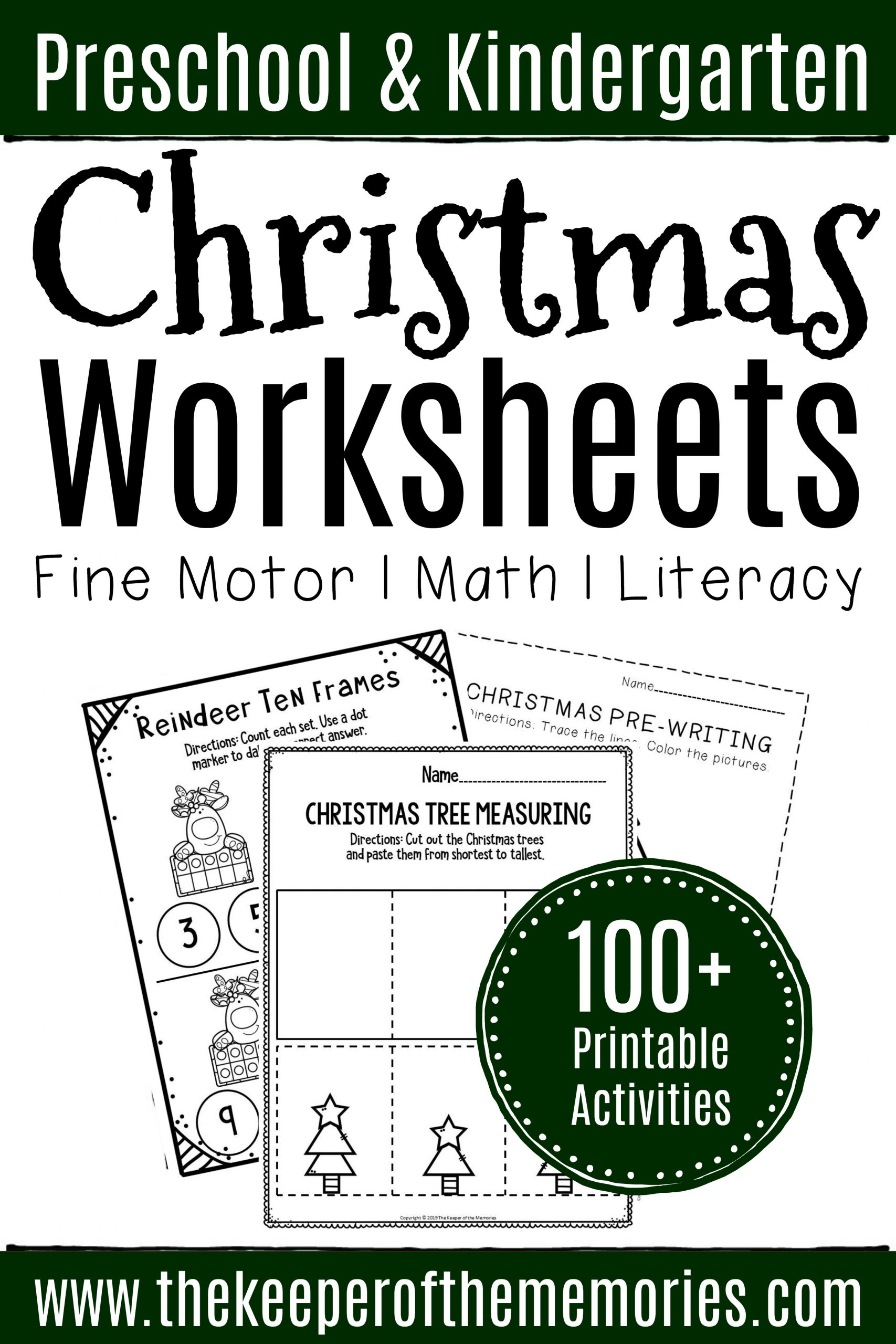 Preschool Christmas Worksheet Printables 100 Christmas Worksheets for Preschoolers & Kindergartners