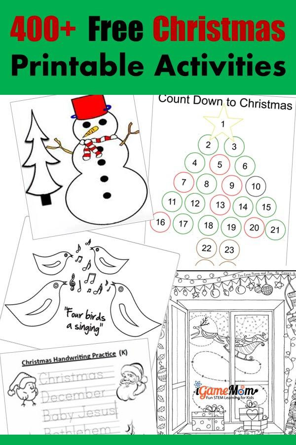 Preschool Christmas Worksheet Printables 400 Free Christmas Learning Printable Activities for Kids